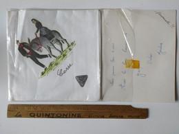 Mouchoir Coton Jumel Provenant De Corse ( Paysan Avec Ane ) Vers 1960 Toujours Dans Son Emballage Jamais Ouvert - Otros