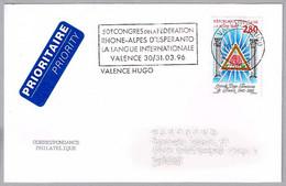50 Congreso FEDERACION RHONE-ALPES DE ESPERANTO. Valence Hugo, 1996 - Esperanto