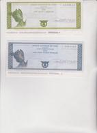 2  BANQUE  NATIONALE  DE  PARIS. 100  +  500  FRANCS  FRANCAIS ,  CHEQUE  DE  VOYAGE - Assegni & Assegni Di Viaggio