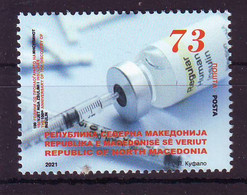 Nord Macedonia 2021 100 Th Anniversaryof The Discoveryof INSULIN MNH - Macedonia