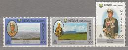 MALAYSIA KEDAH 1983 Famous People MNH(**) Mi 127-129 #27565 - Malaysia (1964-...)