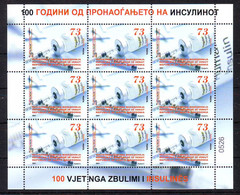 Nord Macedonia 2021 100 Th Anniversaryof The Discoveryof INSULIN Mini Sheet M - Macedonia
