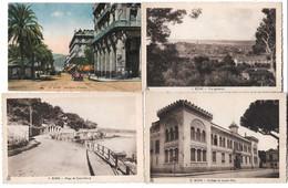 4 Postcards Lot Algeria Bône Annaba General View Quais Warnier Plage De Saint Cloud Collége De Jeunes Filles Unposted - Annaba (Bône)