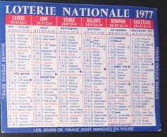 Petit Calendrier Poche 1977 Loterie Nationale Loto - Small : 1971-80