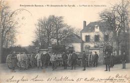 ¤¤   -  SAINT-JACQUES-la-LANDE   -  La Place De La Mairie  -  Militaires Du 61e D'Artillerie De Saint-Brieuc     -  ¤¤ - Sonstige Gemeinden