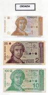 Lotto 3 Banconote  Croazia - 2 Usate E 1 Nuova - Vedi Foto - (FDC30020) - Croatia