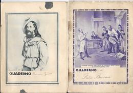 """2 QUADERNI Anni '30  """" GARIBALDI Torturato A Gualeguay E Ritratto """" Ed. C.I.T. - Diploma & School Reports"""