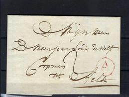 VOORLOPER (met Inhoud) 22/??/1785 VAN Anvers Naar Aelst Ung - 1714-1794 (Austrian Netherlands)