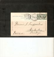 """ITALIE. OBLITERATION DE """" COLICO """" ( LOMBARDIE) 1904 TIMBRES PAIRE N° 66. Sur C.P. AMSTEG (SUISSE) Pour PAYS-BAS - Affrancature Meccaniche Rosse (EMA)"""