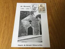 Belgique N°2391 Saint Bernard Sur Souvenir Philatélique De Villers-la-Ville (3/11/1999) - Covers & Documents