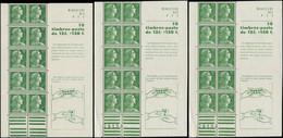 FRANCE Carnets ** - 1010-C2, Lot De 3 Carnets: 12f. Muller (Mains) - Cote: 125 - Uso Corrente