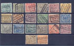 Nrs. TR79/TR99 Gestempeld 70 Côte - 1915-1921