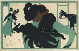 CPA LASKOFF Art Nouveau Femme   (  Written 1909 )  See Scans For Detail - Laskoff