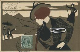 CPA LASKOFF Art Nouveau Femme   (  Written 1908 )  See Scans For Detail - Laskoff