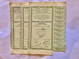 TROIS  OBLIGATIONS  Des  TABACS  Et  ALLUMETTES - Unclassified