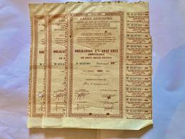 TROIS  OBLIGATIONS  Des  TABACS  Et  ALLUMETTES  4%  1941-1952 - Unclassified
