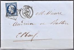 Lettre Du 30 Septembre 1856 P C 137 Arras (departement 61) - 1849-1876: Klassik