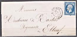 Lettre Du 26 Octobre 1856  P C 3013 Saint Brieuc (departement 21) - 1849-1876: Klassik