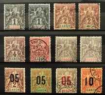 GABON 1904 - Lot YT 16 + 17 + 20 + 21 + 68 + 72 OBL + 18 + 66 + 69 NEUF*/MH - Unused Stamps