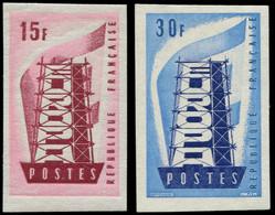 FRANCE Non Dentelés * - 1076/77, Europa 1956 - Cote: 500 - Non Dentellati