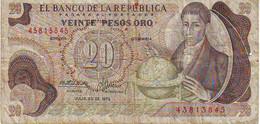 COLOMBIE - 20 Pesos Oro Du 20 Juillet 1975 - TB   Très Rare - Colombia