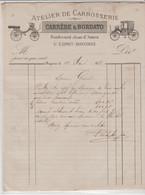 BAYONNE St ESPRIT: CARRERE & BORDATO, Atelier De Carrosserie, Bd J. D'Amou / L. De 1888 - Cars