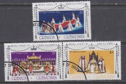 Grenadines N° 191 / 93 O 25è Anniv. De L'accession Au Trône De S. M. Elisabeth II,  Les 3 Valeurs Oblitérées, TB - America (Other)