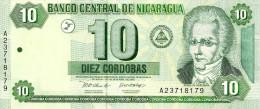 NICARAGUA 10 CORDOBAS GREEN MAN FRONT BOAT LANDSCAPE BACK DATED 10-04-2002 P.191 UNC READ DESCRIPTION !! - Nicaragua