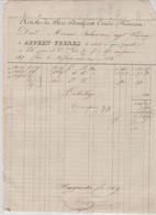 ORNE: APPERT Articles De Flers, Domfront, Condé / Noireau / Fact De 1838 Pour Bordeaux - Kleding & Textiel
