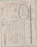 ORNE: LAUMONIER-GUERIN-DESRIVIERES, Fabricants Coutils à Flers / L.V AMIARD, Voiturier / L.V De 1835 Pour Bordeaux - Kleding & Textiel