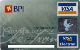 PORTUGAL BPI 1998_11 - Credit Cards (Exp. Date Min. 10 Years)