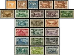 GRAND LIBAN Poste * - 128/148 + 131a, Complet, 22 Valeurs - Cote: 163 - Non Classificati