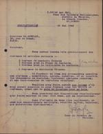 Guerre 39 45 ILAG Camp D'internement Civils étrangers Grande Caserne St Saint Denis Lettre + Photo Spectacle - WW II