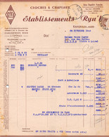 18401  16-0513    1946    CLOCHES & CHAPEAUX ETS RYNH A ESPERAZA - M. PAPIN A TOURS - 1900 – 1949