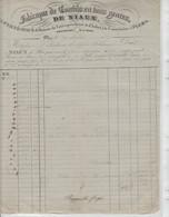 ORNE: DE NIAUX, Fabricants De Coutils à Flers / Fact De 1837 Pour Bordeaux - Kleding & Textiel