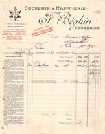 18401  16-1483    1902 SUCRERIE ET RAFFINERIE F BEGHIN A THUMERIES - M. MILOU A TRIE SUR BAISE - 1900 – 1949
