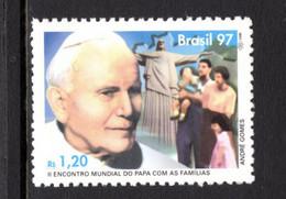 BRAZIL STAMP POPE JOHN PAUL II MINT NOT HINGED SOUVENIR - Popes