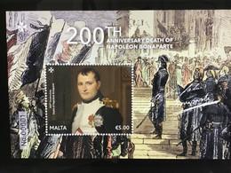 2021  Malta  Mini Sheet  200th Anniversary Death Of Napoleon Bonaparte 2021 - Malta