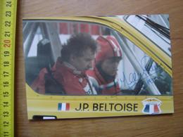 Photo Autographe Dedicace Pilote AUTOMOBILE Jean Pierre BELTOISE - Auto's