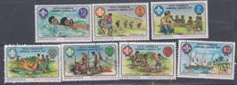 Grenadines N° 215 / 21 X, O  6è Jamboree Des Caraïbes,  Les 7 Valeurs Trace De Charnière Ou Oblitérées, TB - America (Other)