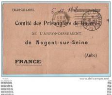 Feldpostkarte Carte Prisonnier KRIEGSGEFANGENEN SENDUNG  Accusé Réception Camp MUNSTER Geprüft NOGENT - Guerra De 1914-18