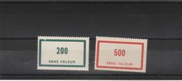 Yvert  92 Et 94 * * Neuf Sans Charnière - Fictie