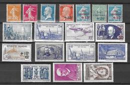 France Belle Petite Collection De Bonnes Valeurs Neufs ** MNH 1905/1940. TB. A Saisir! - Collections