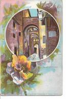 SIENA VIA DELLA GALLUZZA AQUARELLE FLEURS PENSEE R FALE PRECURSEUR 1904 ARTI GRAFICHE - Siena