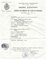 18401  1939 ACTE DE MARIAGE A ANTONY - M. PETIT A SAVIGNY SUR ORGE  B43-0431 - 1900 – 1949