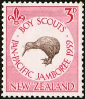 NEW ZEALAND 1959 Boy Scouts Pan-Pacific Jamboree Brown Kiwi Bird Birds Animals Fauna MNH - Kiwi