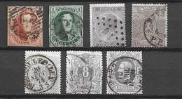 Belgique YT N° 8, N° 9, N° 21, N° 25, N° 29, N° 29A Et N° 36 Oblitérés. B/TB. A Saisir! - Collections