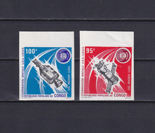 CONGO 1975, Mi# 468-469, Imperf, Space, Satellite, MNH - Collections