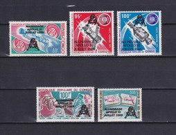 CONGO 1979, Mi# 702-706, Space, Satellite, MNH - Collections