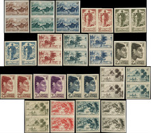 OCEANIE Poste ** - 182/200, Complet, 19 Paires Non Dentelées: Série Courante - Cote: 576 - Non Classificati